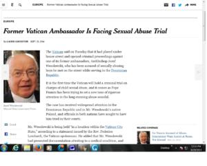 vatican ambassador sex trial